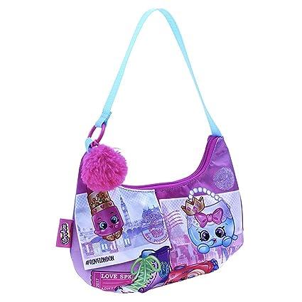 ba139d9cbd Amazon.com | Shopkins Girls Handbag Pom Shoulder Bag Pink/Purple One Size |  Kids' Backpacks