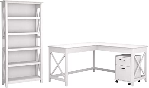 Bush Furniture Key West 60W L Shaped Desk