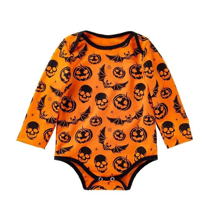 K-youth Bodies Bebe Niña Halloween 0-24 Meses Calabaza de Halloween ...