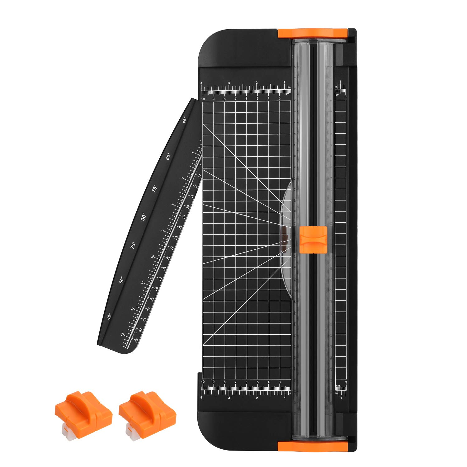 Paper Cutter, AGPTEK 12'' A4 Paper Trimmer with Automatic Security Safeguard for Scrapbooking, Craft Paper,Label & Photos - with Ruler and 2 Extra Blades