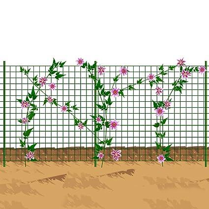 Amazon.com : Mr Garden Wire Mesh Trellis, PVC Coated Plant Trellis, 5x25ft  With 10pcs Of Posts, Green : Garden U0026 Outdoor