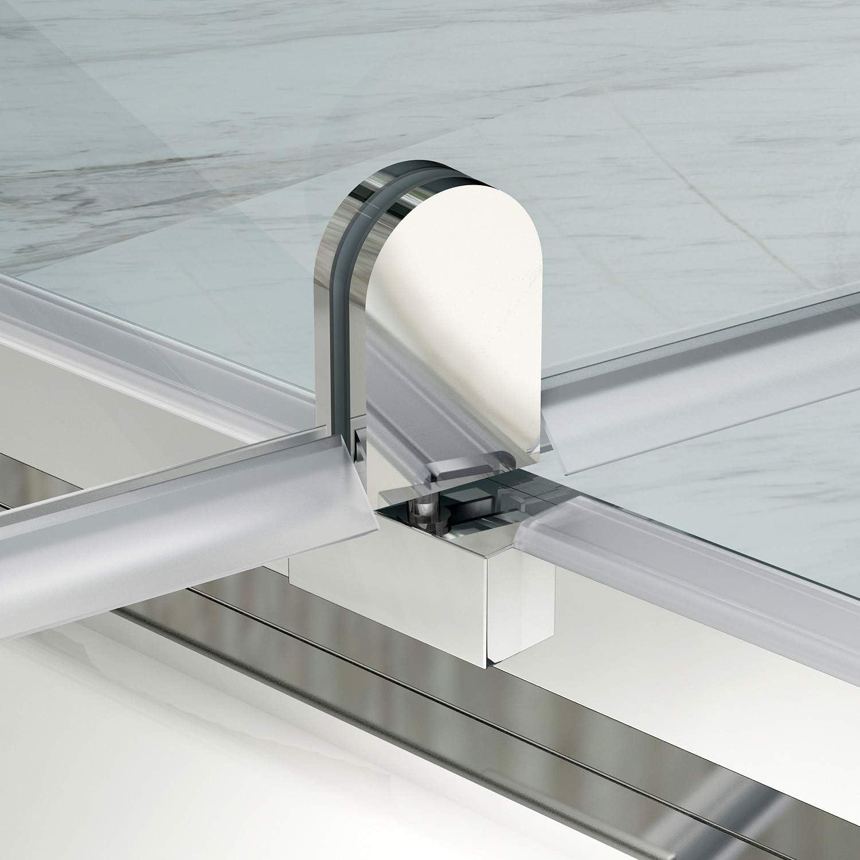 SIRHONA Cabine de douche 70x100x185 cm Porte pivotante en verre securit