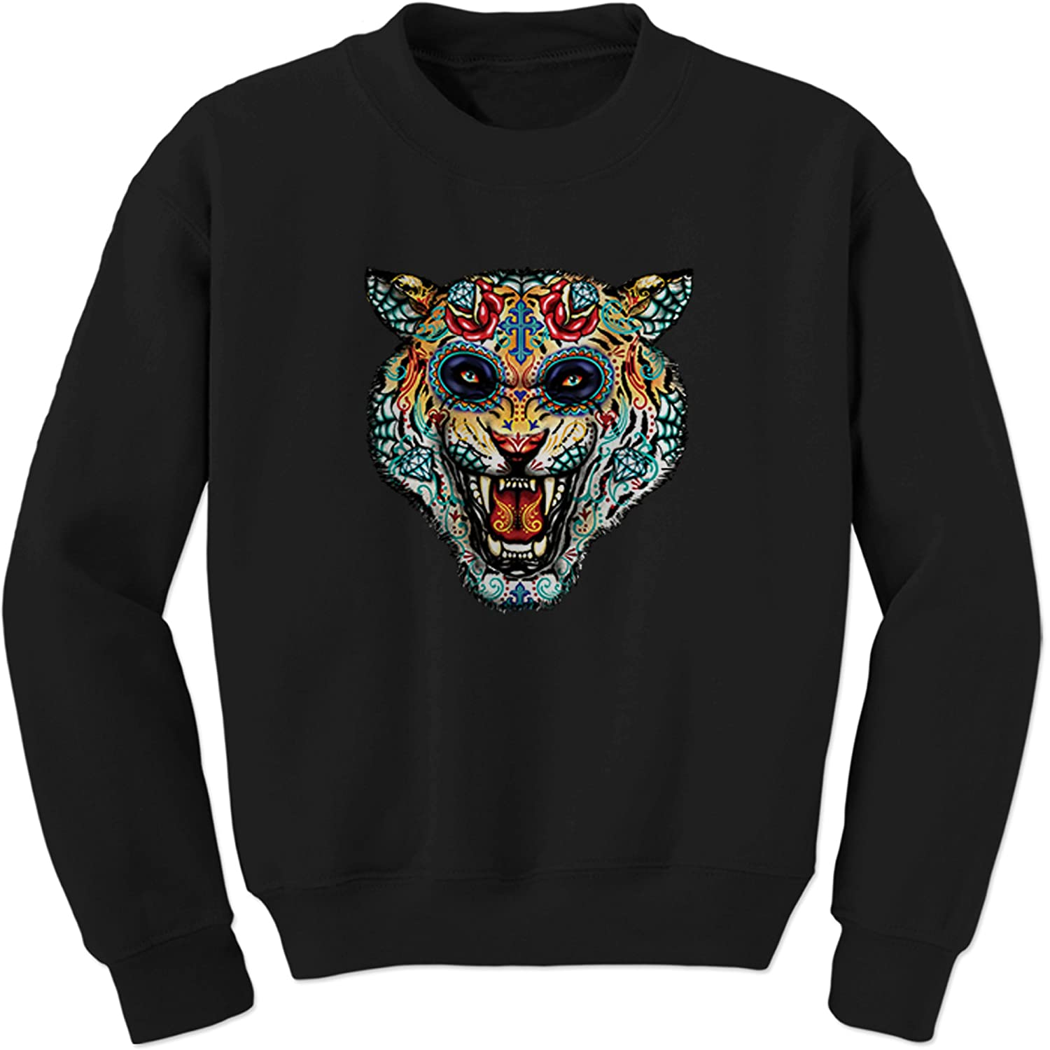 Expression Tees Tiger Day of The Dead Crewneck Sweatshirt