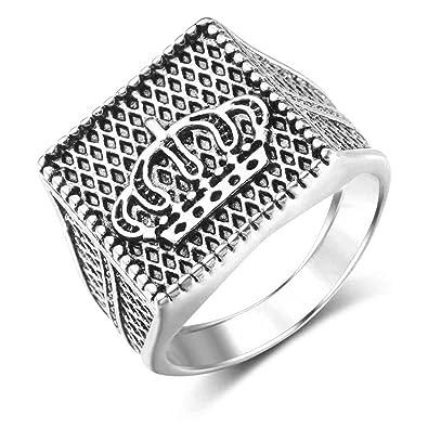 ENCOCO Punk Ring for Man Gold Alloy Crown Vintage Ring Hip Hop Style Men  Ring 915e898798c0