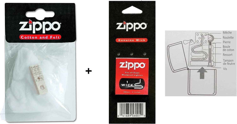 les colis noirs lcn Kit Repuesto algodón de Zippo y Fieltro + ...