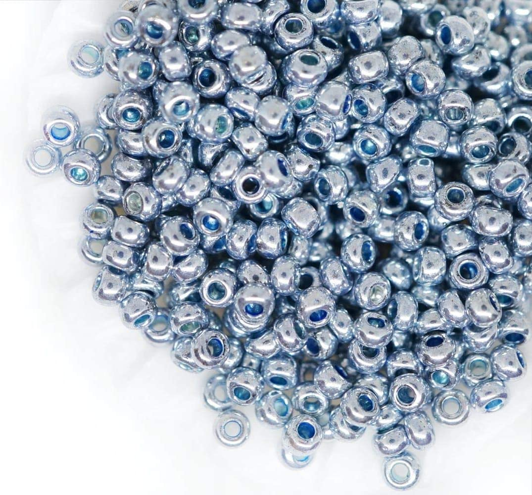 20g Metallic Round Czech Glass Seed Beads PRECIOSA Pearls Rocaille Spacer 10//...