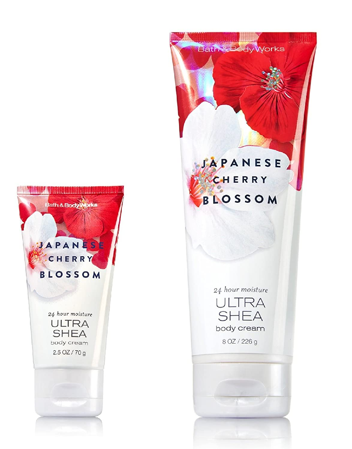 Bath & Body Works One for home & One for Travel – ULTRA SHEA Body Cream Set – Japanese Cherry Blossom