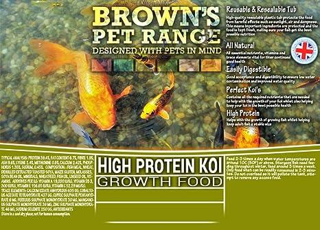 Gama de mascotas de Brown Pellet de alta proteína Koi para el ...