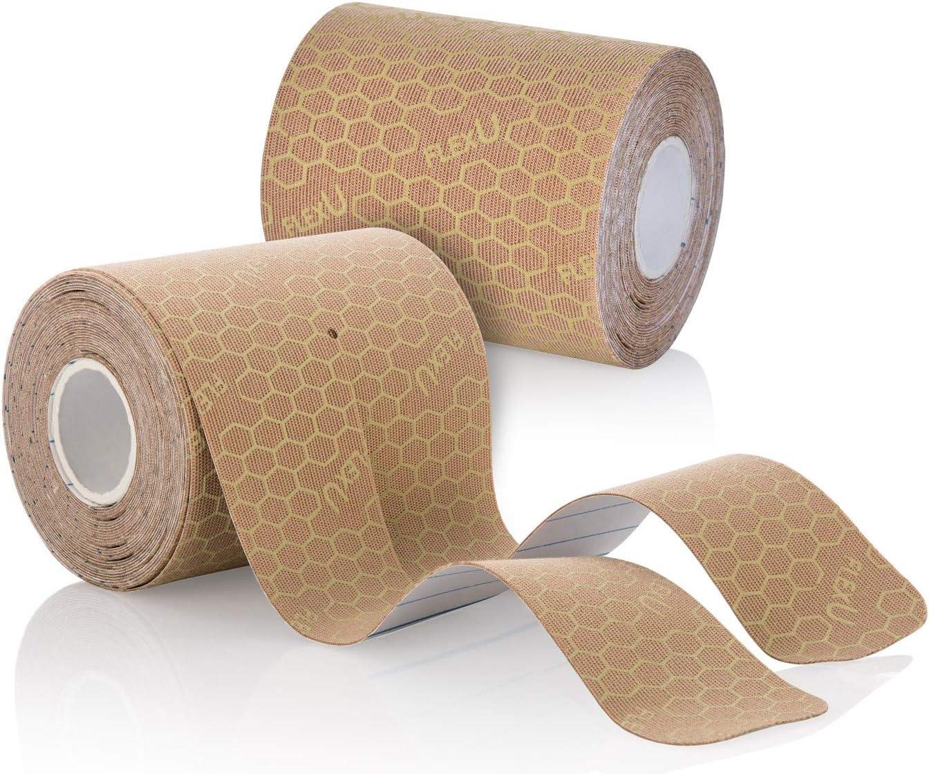FlexU PRE-Cut Y Shape Kinesiology Tape; 2 Pack ; 40 Strips of 3X10