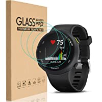 [3 Pack] for Garmin Forerunner 45 / 45s Screen Protector, 9H Hardness Bubble Free Tempered Glass 0.2mm Film Compatible…
