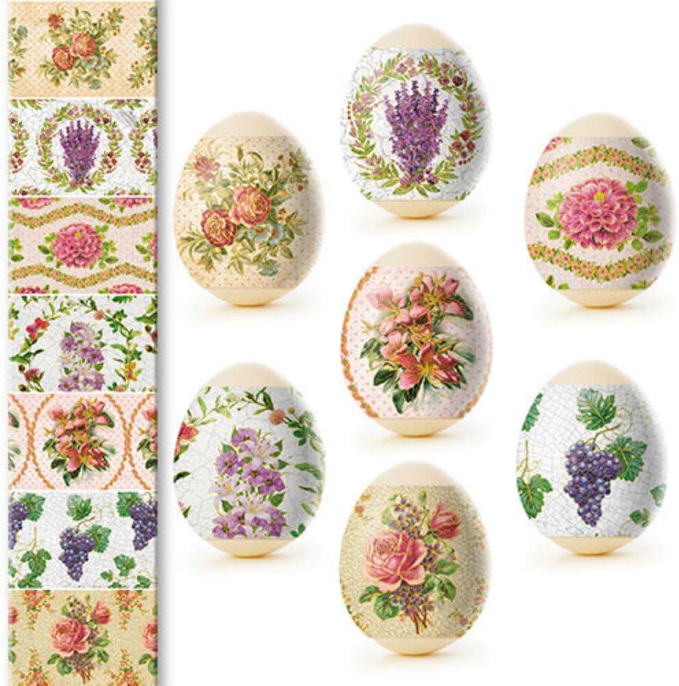 Easter Egg Wraps for 7 Hen Eggs Pysanka Pysanky Eggs Heat Shrink Sleeves,#30