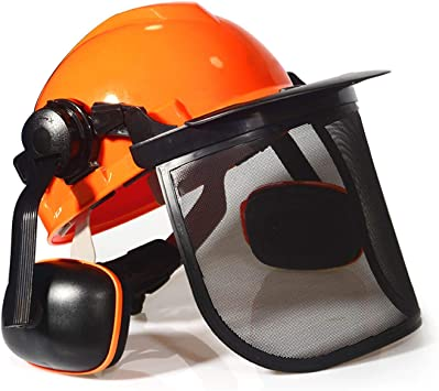 5 in 1 Chain saw Safety Helmet System Protect Forester Head Face Eyes Ear Muffs