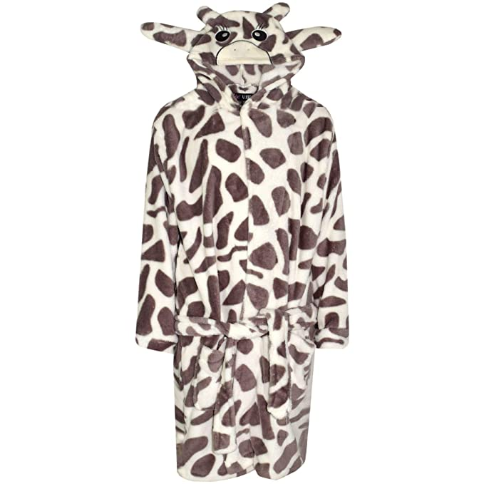 A2Z 4 Kids/® Kids Girls Boys Bathrobes Designers Plain Soft Short Dressing Gown Nightwear Loungewear Age 2 3 4 5 6 7 8 9 10 11 12 13 Years