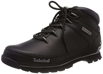 ed576473a37 Timberland Mens Euro Sprint Hiker Shoes Walking Hiking Ankle Boots - Black  - 7.5