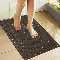 Kuber Industries™ Non Slip Bathroom Mat,Bathtub Mat,Shower Mat,Bath Mat with Suction Cups (Brown) Checkered Design Code-AB18