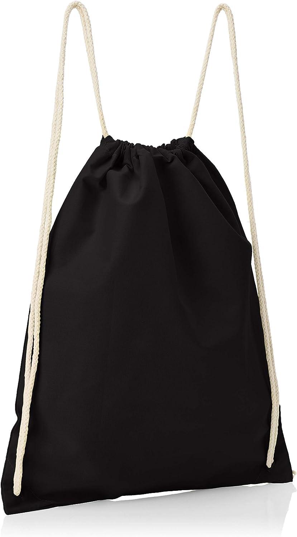 Texlab Unisex/_Adult VEND-234232 Drawstring Bags 38 cm x 42 cm Black