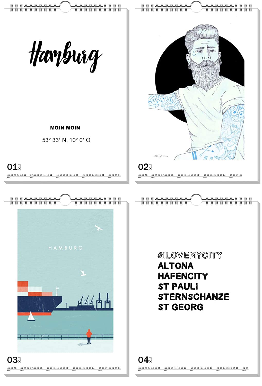 ArtboxONE Kalender Kalender Kalender 2019 Hamburg, Meine Perle  Wandkalender A2 Städte Hamburg B07JGR6DLZ    | Realistisch  2d437b