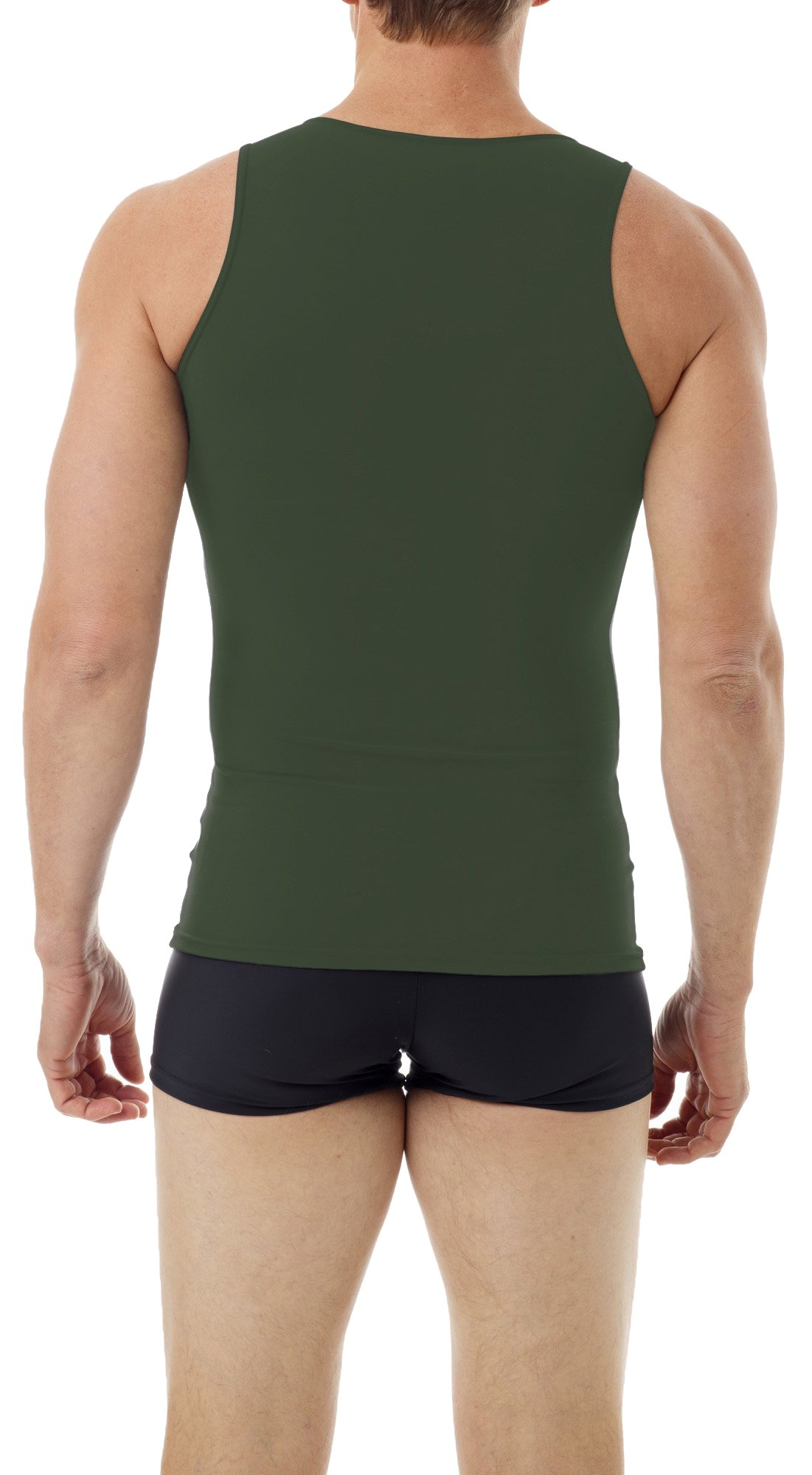 Underworks Mens Microfiber Compression Tank, Small, Army Green by Underworks (Image #2)