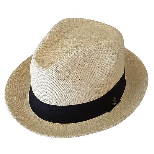 c47b8351380 Original Panama Hat - Short Brim Fedora - Unisex Style - Many Colors -  Toquilla Straw