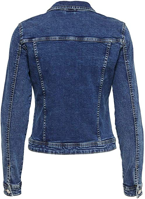 Only Onltia Dnm Rhinestone Jacket Chaqueta para Mujer