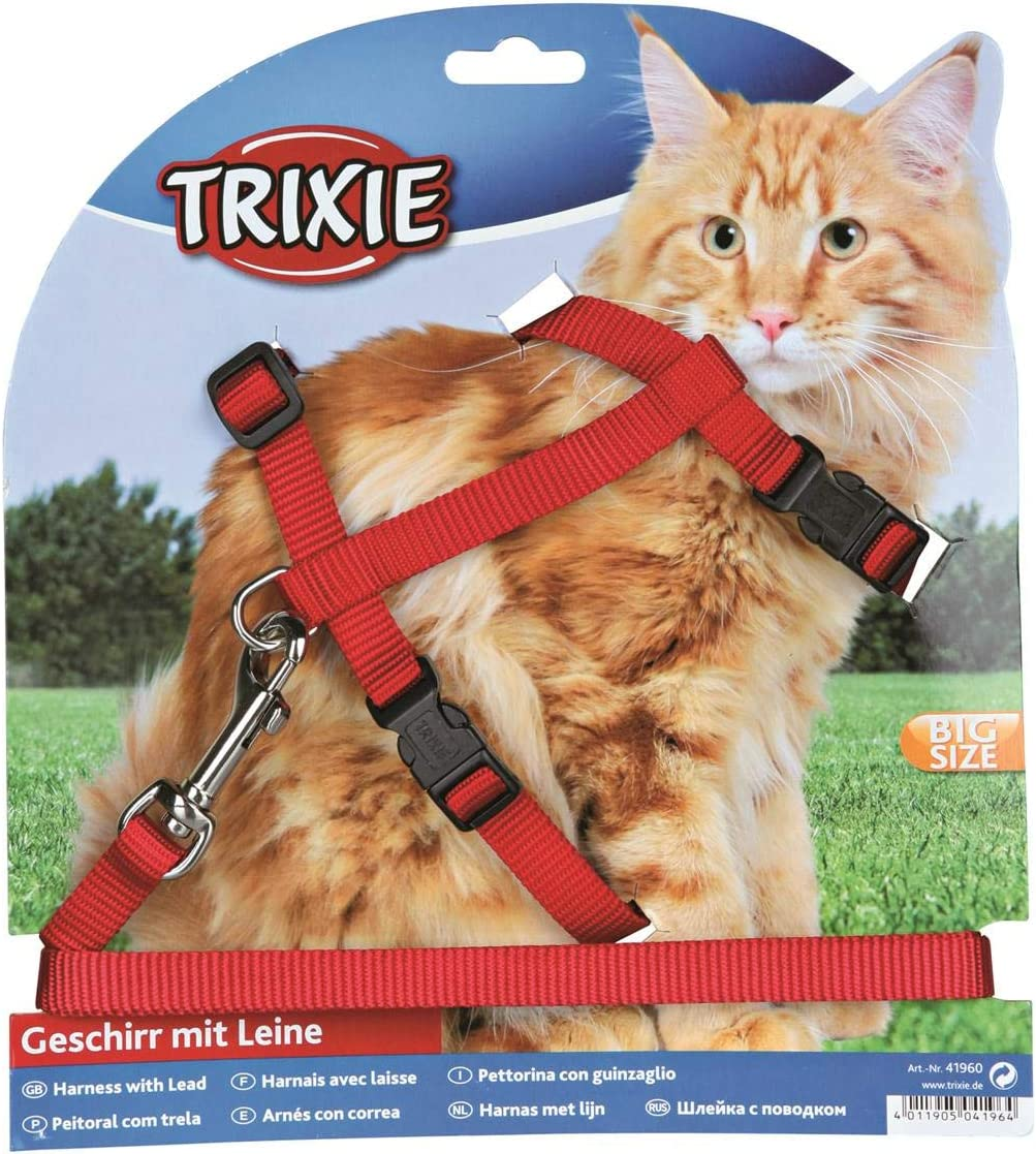 TRIXIE Set Gatos XL, Nylon, Colores Surtidos, Gato