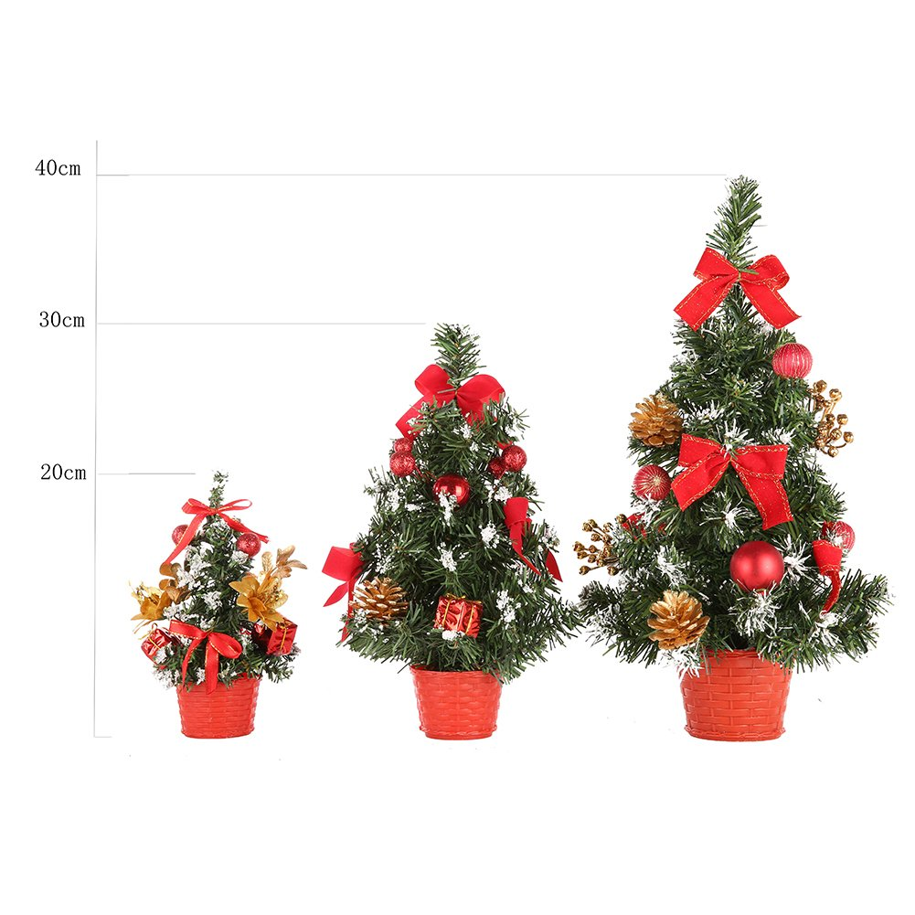 Sizet PVC Christmas Tree with Colorful Fake Flowers, Pine Cones, Stars and Bows Festive Home Decoration