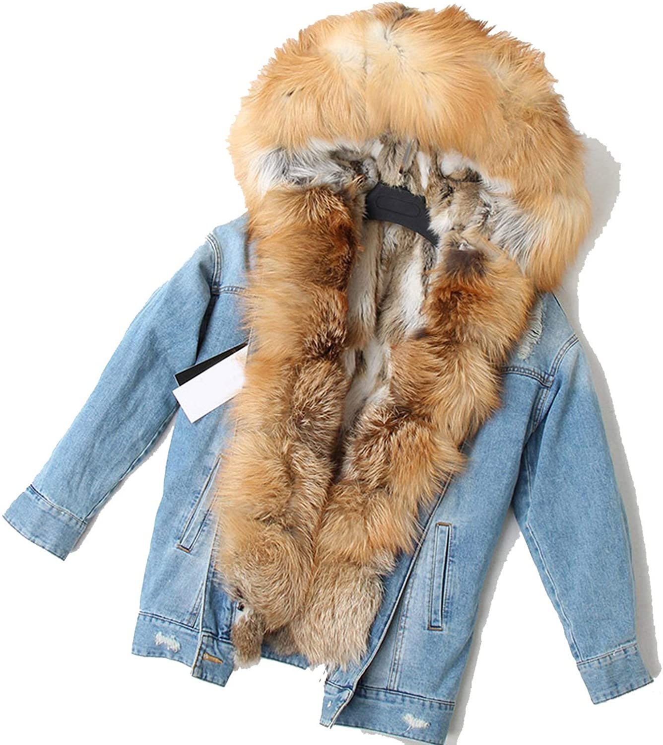 Womens Parka With Real Fur Hood