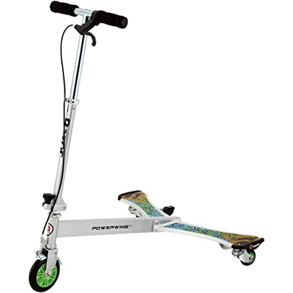 Amazon.com: 3 powerwing con ruedas Dlx Scooter, color azul ...