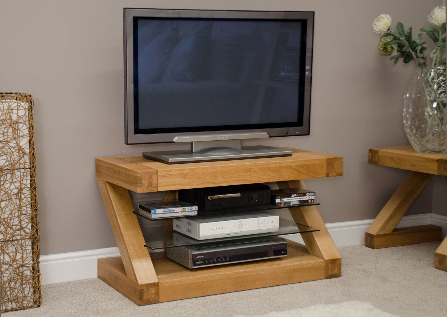 z oak designer tv unit amazoncouk kitchen  home -