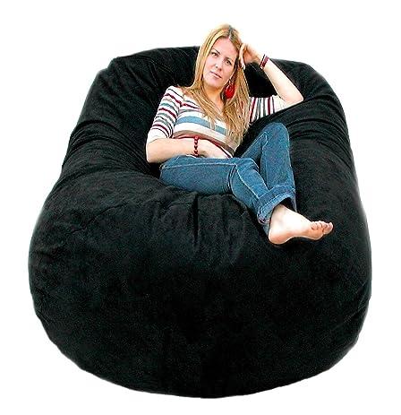 Cozy Sack 6 Feet Bean Bag Chair Large Black