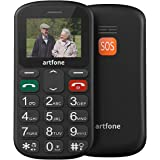 Artfone GSM Telefono Cellulare per Anziani con Tasti Grandi Pulsante SOS torcia elettricaSupporta Doppia Scheda SIM Cellulare Anziani Facile da Usare