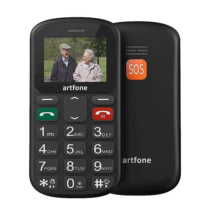 25 opinioni per Artfone GSM Telefono Cellulare per Anziani con Tasti Grandi Pulsante SOS torcia