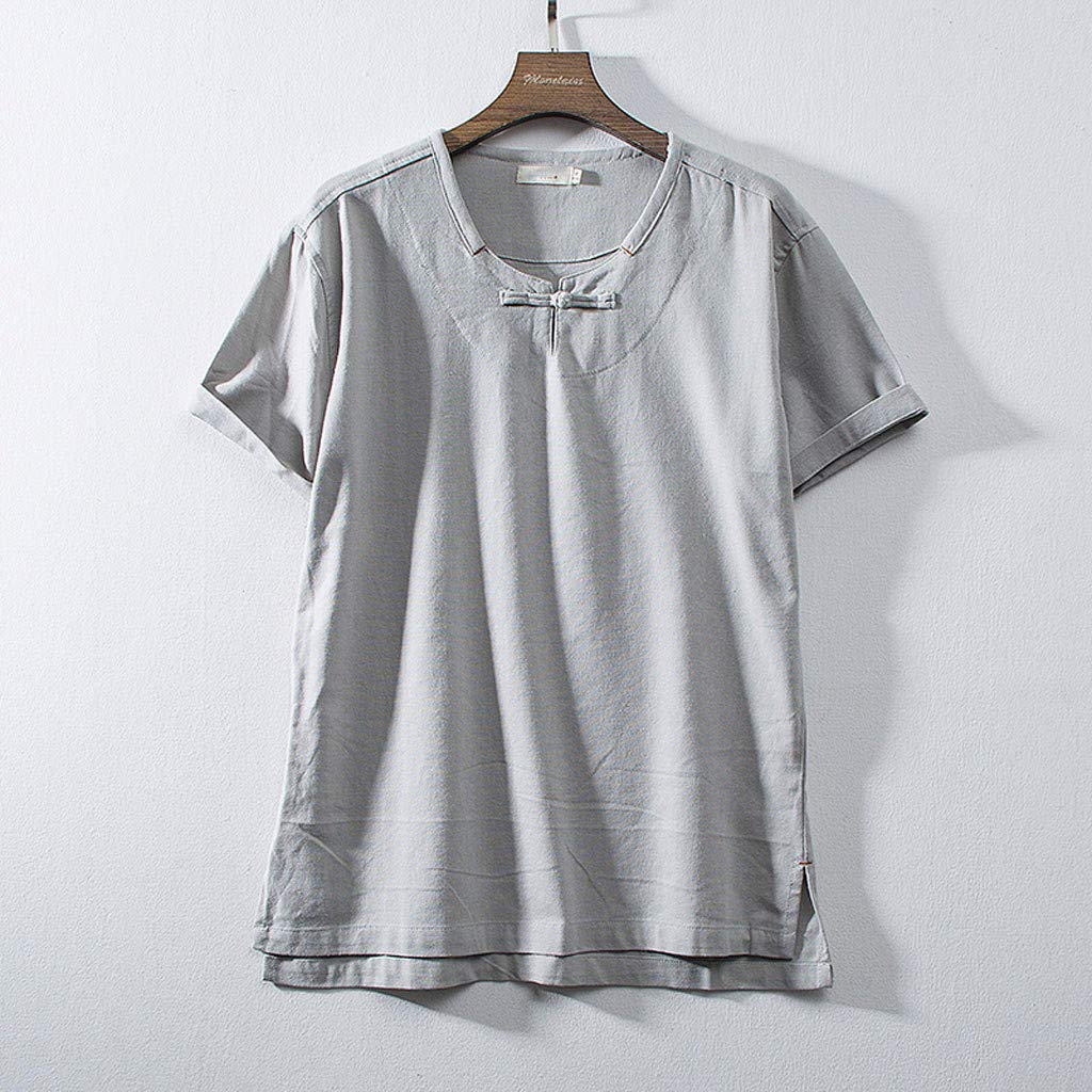 TOPUNDER Mens Print Short Sleeve T-Shirt Basic Fashion Tee Casual Hipster Crew Neck Tee