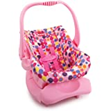 Doll Toy Car Seat - Pink Dot