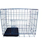 SRI Imported High Quality Puppy/Small Pet Cage With Removable Tray (28Inch) (BLUE)