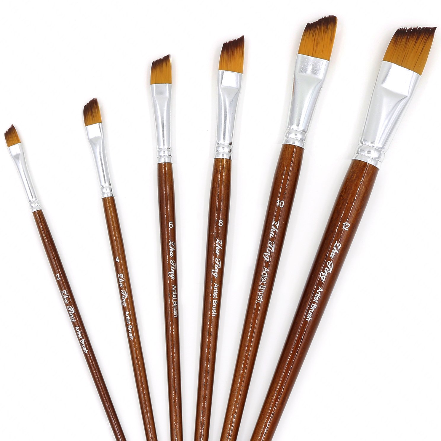 Amazon.com: YOUSHARES 6 pcs Art Paint Brush Set for Watercolor, Oil ...