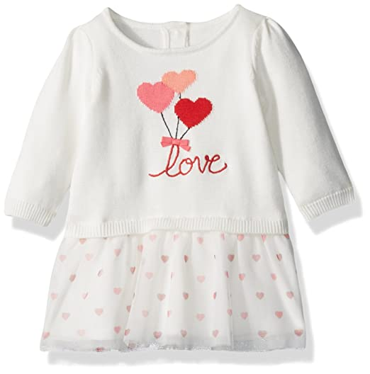 a8470f54a94 Amazon.com  Gymboree Baby Boys  Heart Balloon Sweater Dress with ...