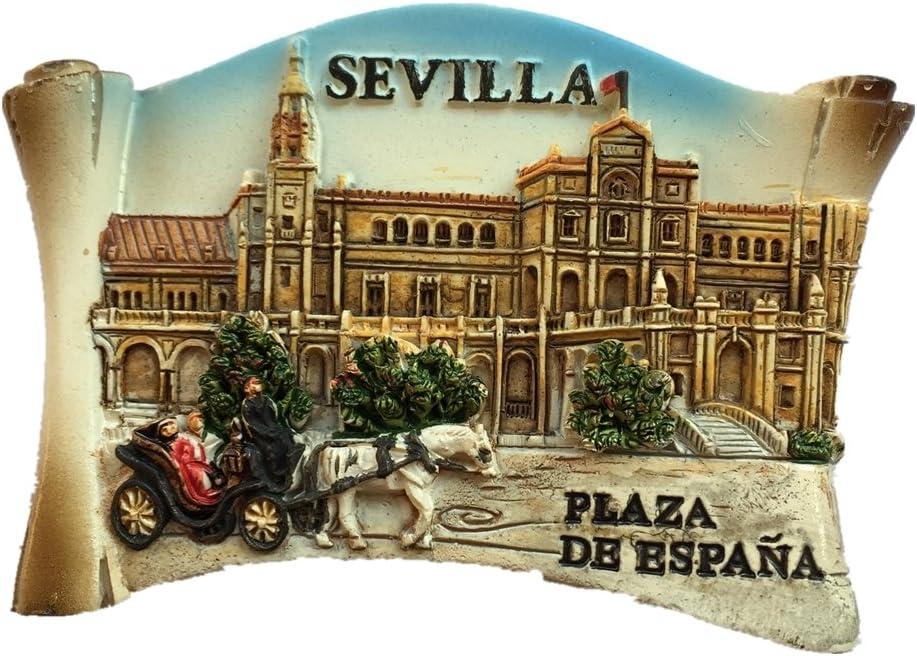 Sevilla España Europa World City resina 3d fuerte imán para nevera ...