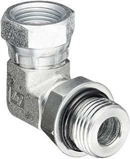 3//4-16 SAE ORB x 1//4-18 NPSM Thread 1//2 Male Adjustable O-Ring Boss x 1//2 Female NPTF Swivel Brennan Industries 6901-08-04-NWO-FG Forged Steel 90 Degree Elbow Tube Fitting