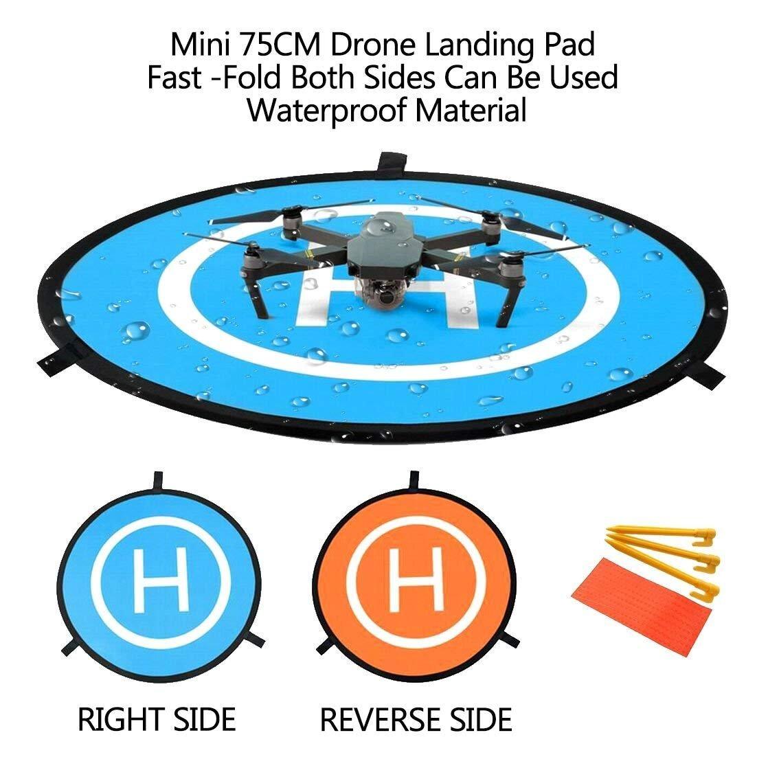 Drone Landing Pad, WisFox Universal Waterproof D 75 cm / 30 ...