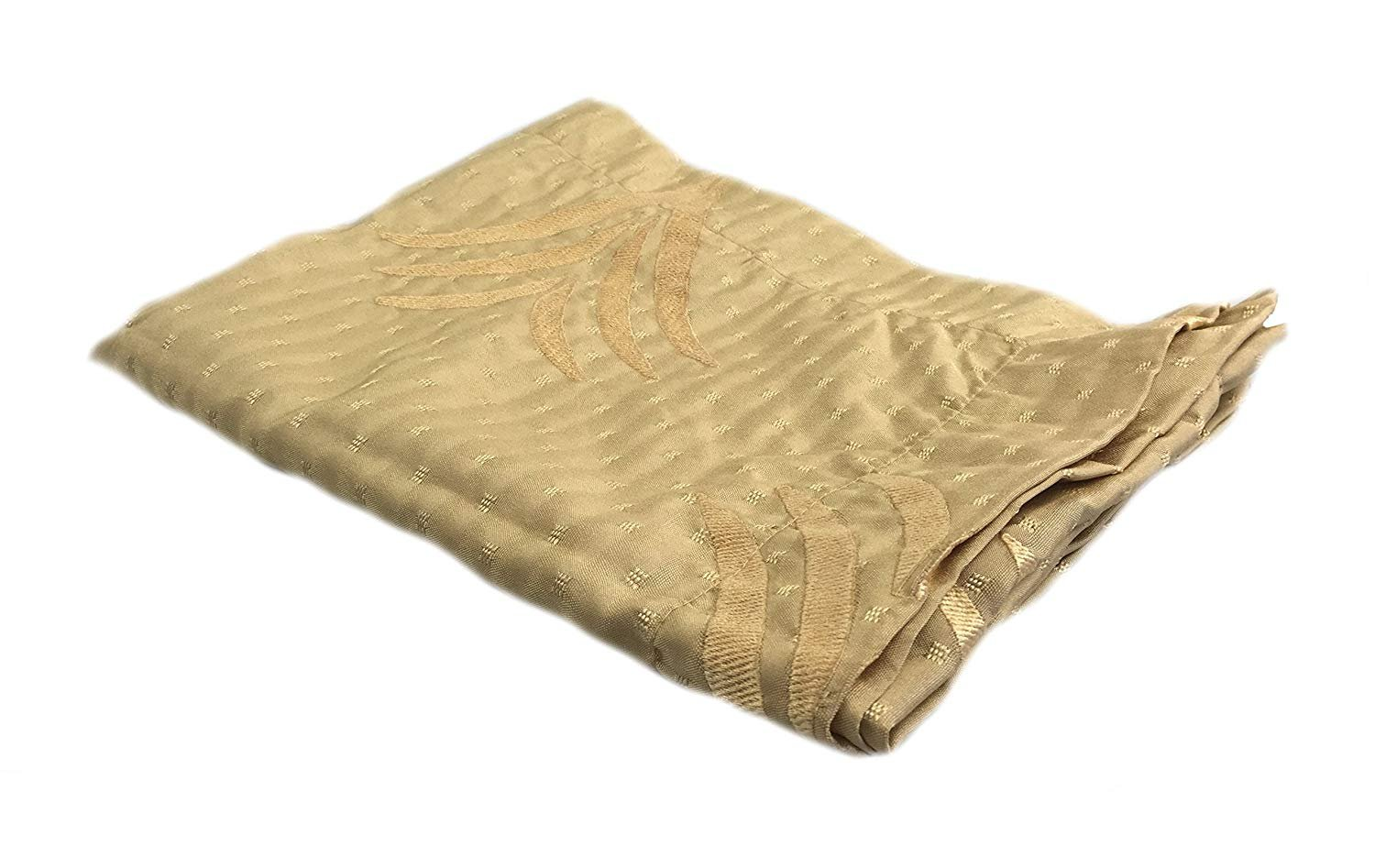 Wheat Embroidered Bed Scarf Valencia Eastern King 102'' X 18''