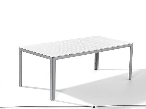 dacore aintwood gartentisch 200 x 100 cm silber wei - Tisch Aintwood