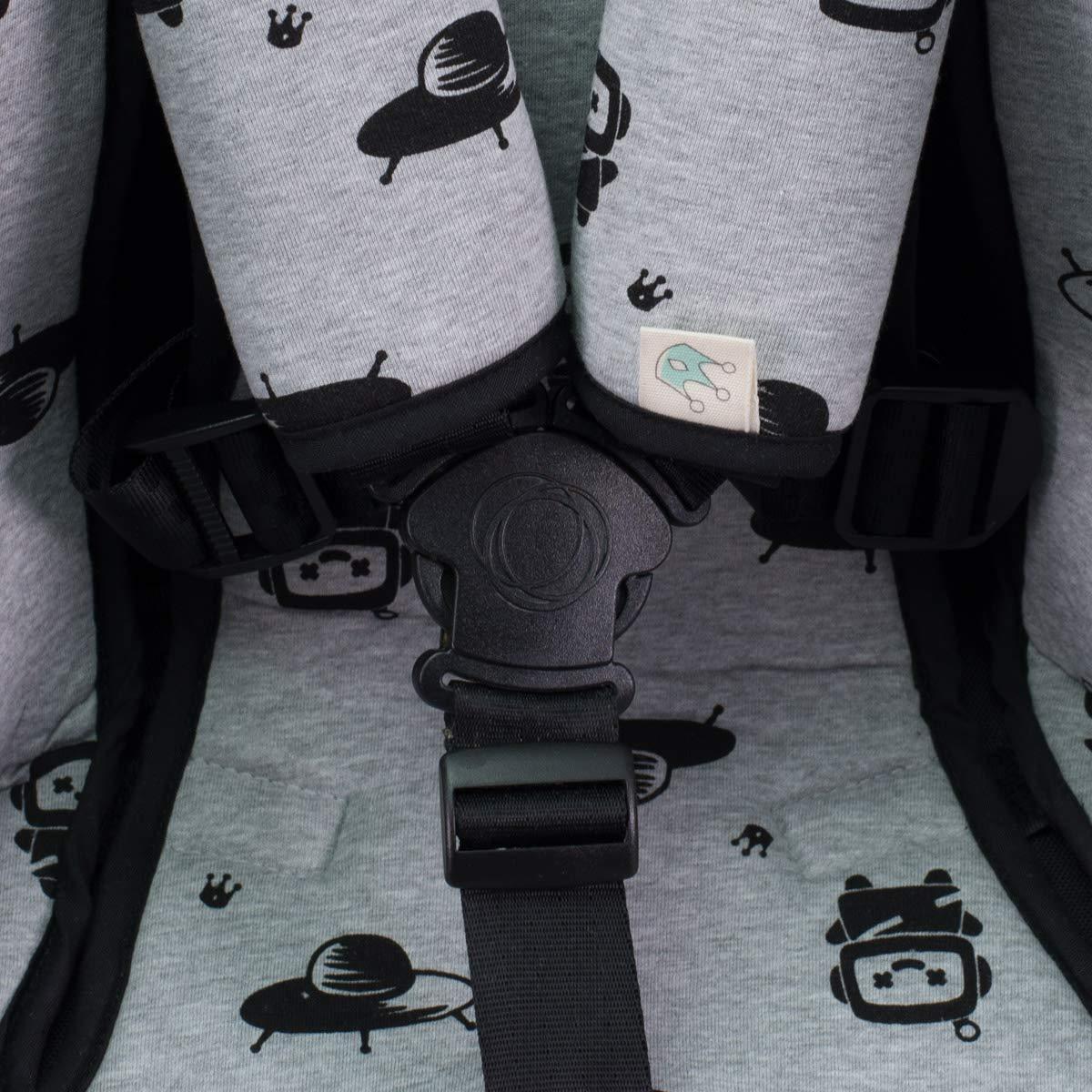 Inglesina, Cibex, Bugaboo,.. Crabby Universal Cover Pushchair Luxury Foam Protection Harnesses Janabebe/®