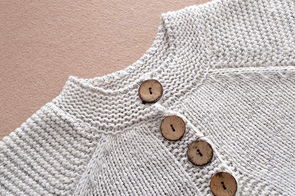 Baby Little Girls Cute Autumn Winter Button Knitted Sweater Cardigan Warm Thick Coat Jacket Clothes