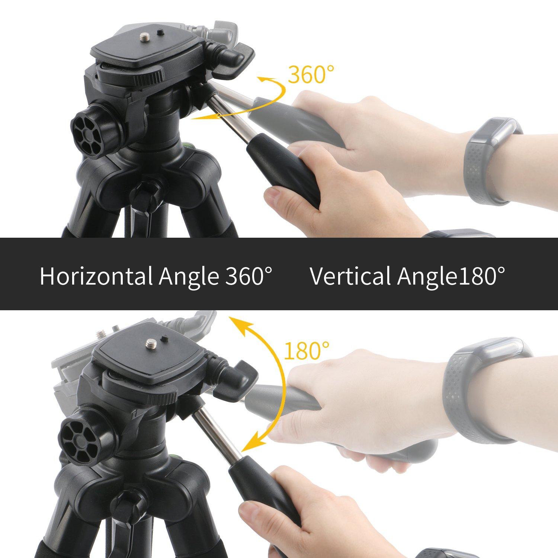 mactrem Acadia AT64 64,5 cm profesional portátil magnesio aleación de aluminio Trípode Monopod y 360 grados cabeza de bola para SLR DSLR Cámara DV Canon ...