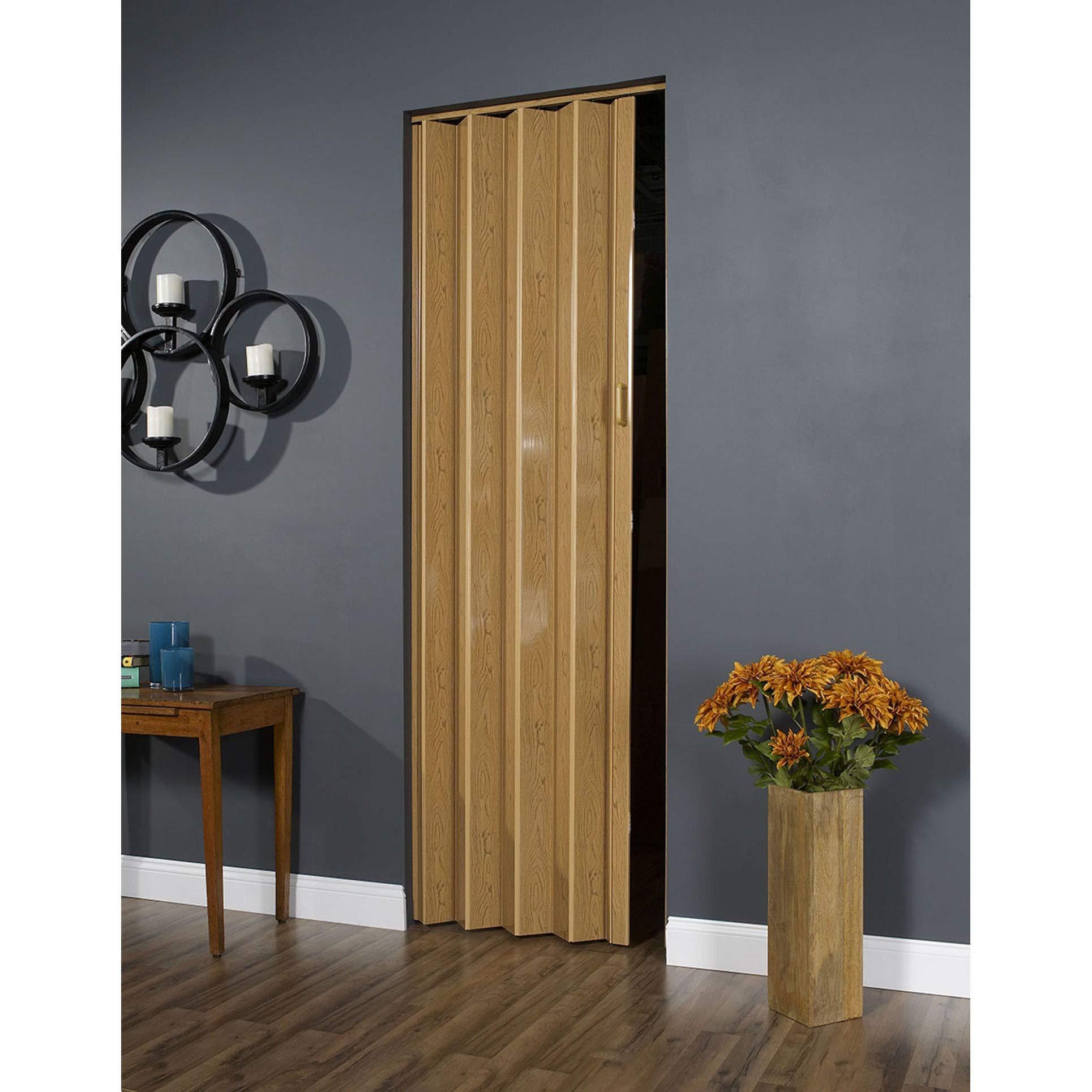 Spectrum 32 Inch x 96 Inch Folding Door in Oak Brown