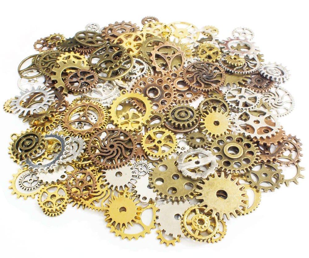 Craft parts Gear Charm About 50 species 150 pieces 4 color set