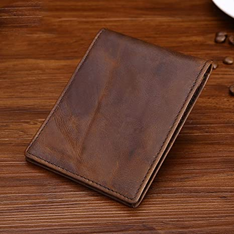 Leather Credit Card Holder Color Brown