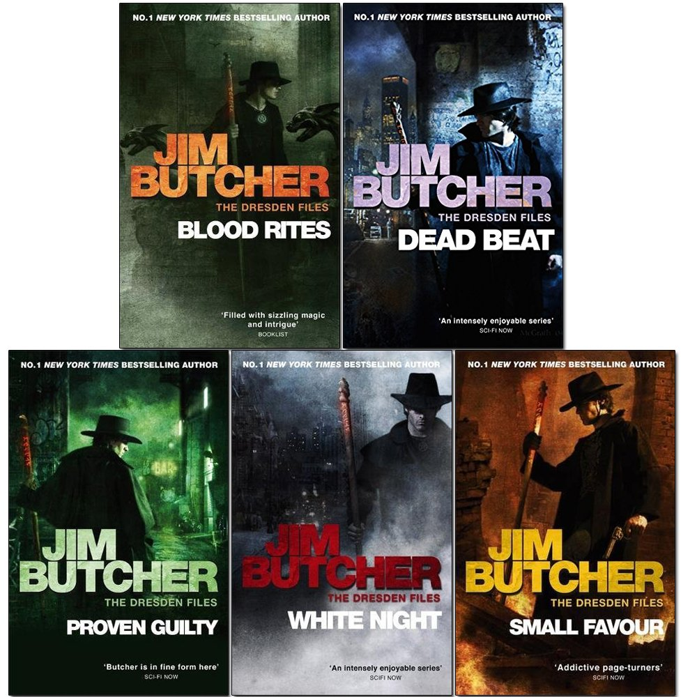 The Dresden Files Series Jim Butcher Collection 15 Books ((Storm Front,  Fool Moon, Grave Peril, Summer Knight, Death Masks, Blood Rites, Dead Beat,  ...