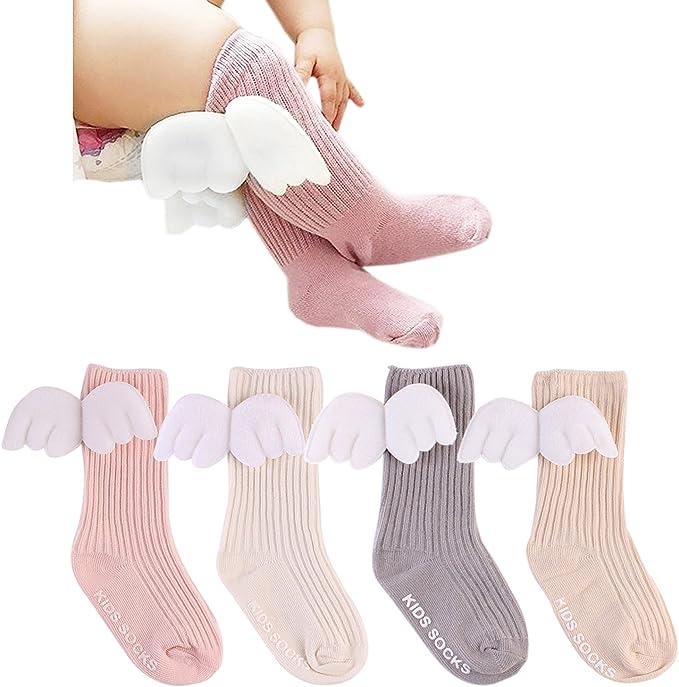 Gellwhu 3-Pack 0-3T Baby Girls Toddler Legging Pants Tights Stockings Non Skid